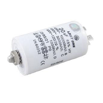 DealMux a12112800ux0236 400V / 450V / 500 VCA 20UF 8 mm Male Dia ...