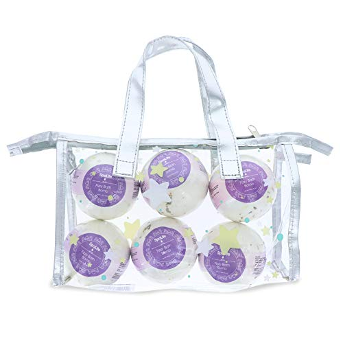 Spa Life Lavender Bath Bombs 6 Piece Set with Carry Case