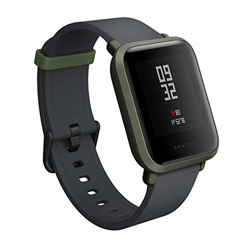 Xiaomi Amazfit Bip Smart watch with GPS Real-time Heart Rate Monitor Water Resistant Sports Fitness Tracker Support iOS and Android for Kids Men Women /US Version (Kokoda Green)