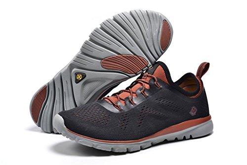 Senximaoyi Traspirante Assorbente Per Il Tempo Libero Alpinismo Da Jogging Scarpe Sportive Scarpe, Nero, 8