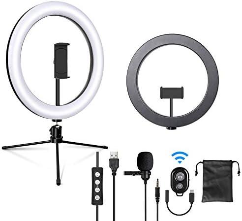 Imartine 10 Led Ringlicht Mit Mikrofon Stativ Und Kamera