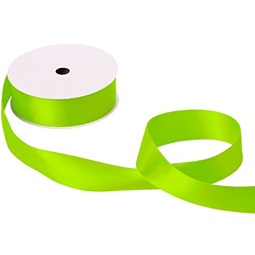 Jillson & Roberts Double-Faced Satin Ribbon, 1 1/2'' Wide x 50 Yards, Lime by Jillson Roberts
