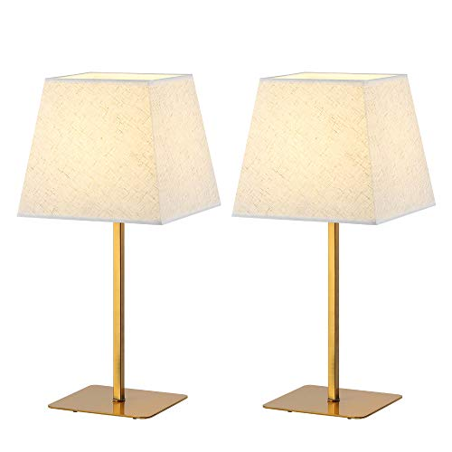 haitral table lamp metal base fabric lamp shade night light for living room bedroom college. Black Bedroom Furniture Sets. Home Design Ideas