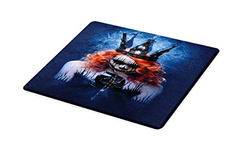 Ambesonne Queen Cutting Board, Queen of Death Scary