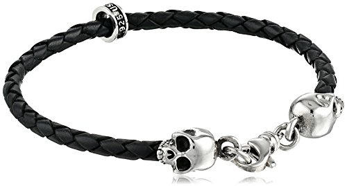 King baby k42 5541 king baby thin braided leather skull for King baby jewelry sale