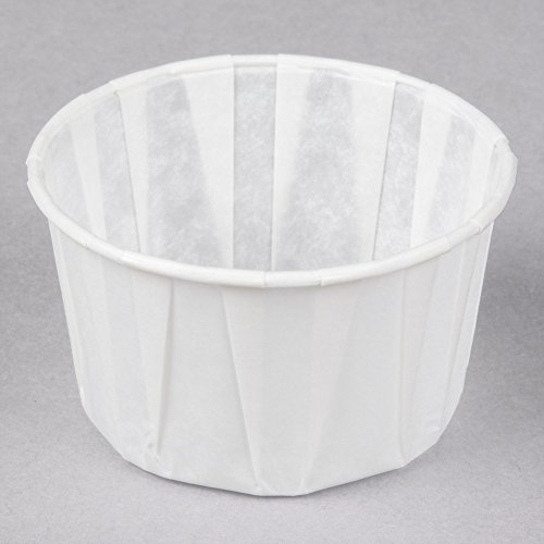 Large Souffle (Dart Solo 325 3.25 oz. White Paper Souffle / Portion Cup - 250/Pack)