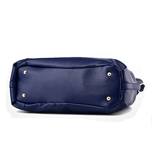 Handbags a Handbag Women PU Pahajim de la venta Ladies Fashion Azul bolso bolsos portátil señoras Office hombro xIqCwwRH