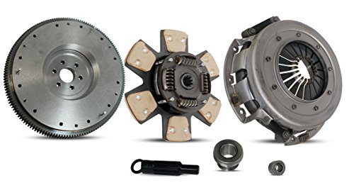 (Clutch Kit With Flywheel Works With Ford Mustang Lx Gt SVT Cobra Convertible Coupe Hatchback 1/1986-2000 4.6L V8 GAS SOHC 5.0L V8 GAS OHV Naturally Aspirated (From 1/1986; 6-Puck Clutch)