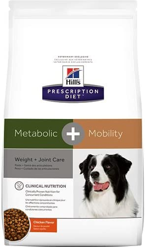 Hill's Prescription Diet Metabolic Mobility Weight and Joint Care Chicken Flavor Dry Dog Food 24 lb