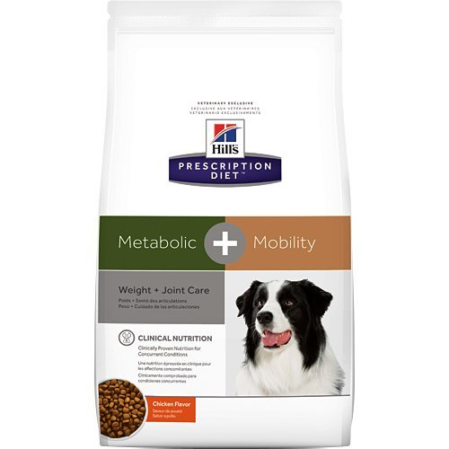 Hill's Prescription Diet Metabolic + Mobility Weight and Joint Care Chicken Flavor Dry Dog Food 24 lb by Hill's Pet Nutrition
