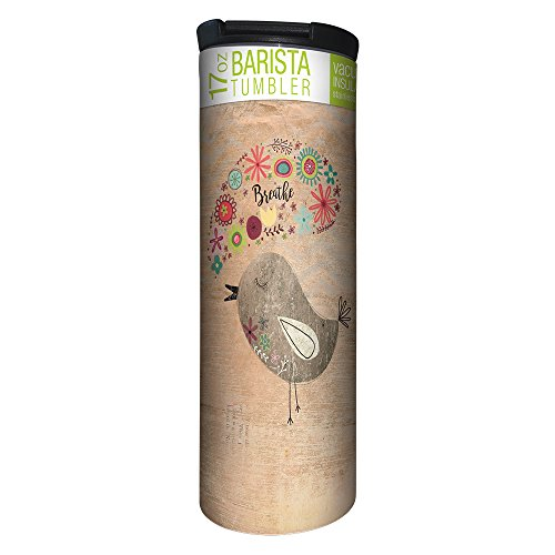 TreeFree Greetings Good Morning Vacuum Insulated Travel Coffee Tumbler 17 Ounce Stainless Steel Mug Cute Inspirational Bird Lover Gift BT21943