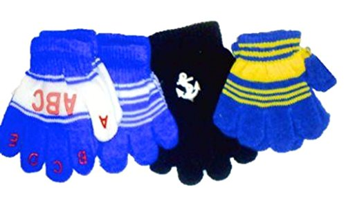 Set of Four Pairs of One Size Magic Stress Gloves for Infants by Jolly