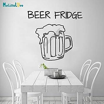 Cerveza Nevera Cocina Decal Bar Refrigerador Divertido Amante de ...