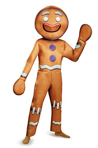 Disguise Men's Shrek Gingy Deluxe Costume, Brown, X-Large -
