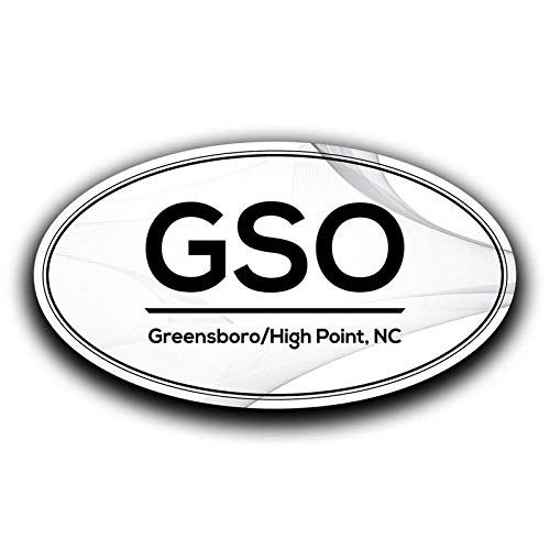 Two 5.5 Inch Decals MKS0568 More Shiz GSO Greensboro High Point North Carolina Airport Code Decal Sticker Home Travel Car Truck Van Bumper Window Laptop Cup Wall