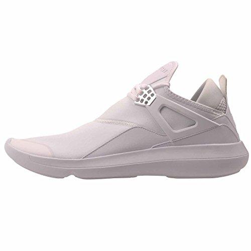 Nike Men's Jordan Fly 89 White/White-White-Chrome Ankle-High Basketball Shoe - 11M