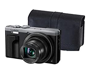 "Panasonic LUMIX 4K ZS60 Point and Shoot Camera, 30X LEICA DC Vario-ELMAR Lens F3.3-6.4, 18 Mp, DMC-ZS60S with ""CASE"" (Certified Refurbished)"