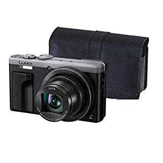 (Renewed) PANASONIC LUMIX 4K ZS60 Point and Shoot Camera, 30X Leica DC Vario-Elmar Lens F3.3-6.4, 18 Mp, DMC-ZS60S with CASE