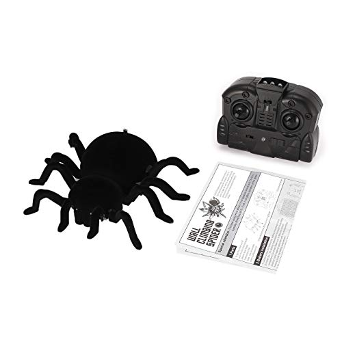 Liobaba for FY878 Infrared Remote Control Wall Climbing Realistic Spider RC Prank Insect Joke Scary Trick Toy Kid Gift Halloween Party