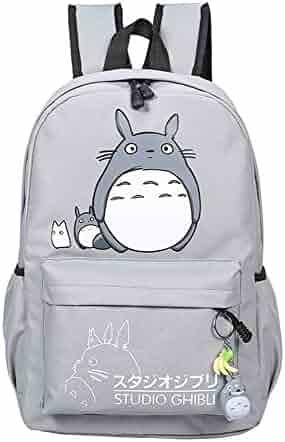 YOURNELO Fashion Boys Girls Miyazaki Hayao Totoro Canvas School Backpack  Bookbag caba528407