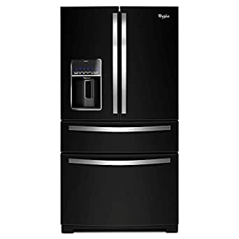 "Whirlpool WRX735SDBE 36"" 25 cu. ft. Black Ice French Door 4 Door Refrigerator w/ Water and Ice"