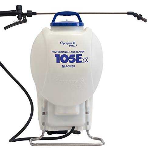 105Ex Effortless Backpack Sprayer - 20V Lithium Long Battery Life with High Grade Seals & O-Ring, Brass Wand & Nozzle ()