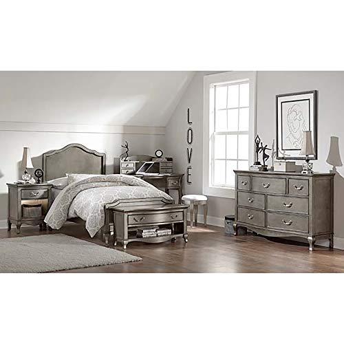 Hillsdale Furniture 30010N Kensington Charlotte Panel Bed, Twin, Antique Silver