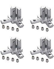INCREWAY 8-Pack 3-weg einde hoekbeugel connector met schroeven, voor standaard 6mm T sleuf aluminium extrusie profiel 2020 serie