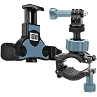 Action Camera Accessories Bundle Set by USA Gear with Handlebar Mount and Smartphone Tripod / Action Cam Mount Adapter - Works with Phones by Apple , Samsung , LG , Motorola & More