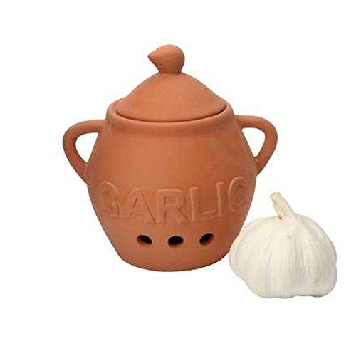 Roasting Garlic Terra Cotta - Dexam Terracotta Garlic Keeper (Pack of 2)