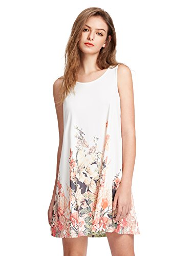 Womens Floral Sleeveless Casual T shirt
