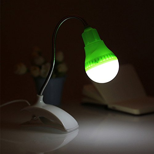 Adjustable Clip-on Lamp Lampshade With LED Bulb (Green) - 3
