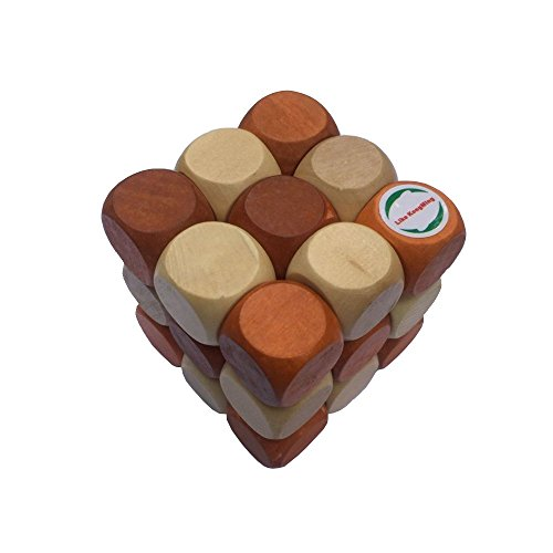 Puzzle games ,Wooden Brain Teaser Puzzle KongMing Lock