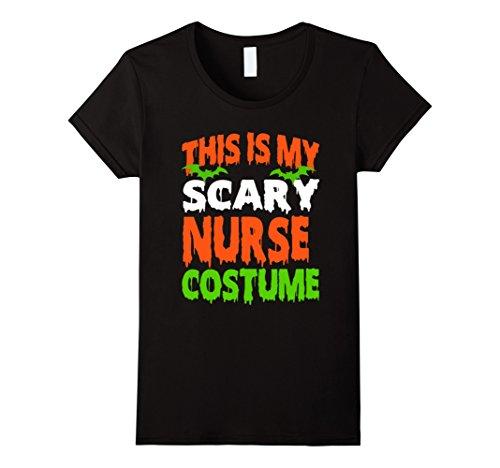 Female Scary Halloween Costumes (Womens NURSE - SCARY COSTUME HALLOWEEN SHIRT Medium Black)