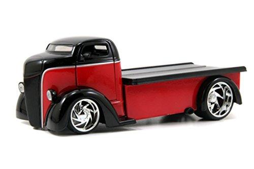 Jada 1947 Ford COE Flatbed Bigtime Kustoms 1:24 Scale (Black over Red) -  96959r-bk