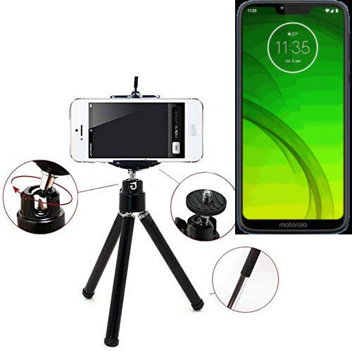 K-S-Trade Smartphone Tripod/Mobile Stand/Tripod Compatible With Motorola Moto G7 Power, Aluminium Mobile Phone Holder