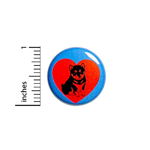 Cute Button Badge Husky Puppy Dog Love Heart Jacket Backpack Pin 1