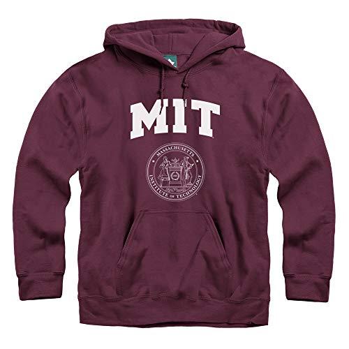 Ivysport MIT Hooded Sweatshirt, Legacy, Maroon, - Hood Mitten
