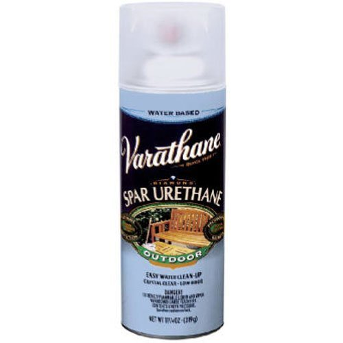 Rust-Oleum Varathane 250281 Outdoor Spar Urethane Crystal Clear Water Based Spray, Satin Finish by Rust-Oleum