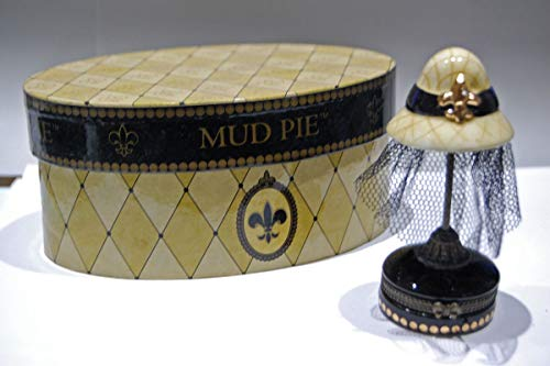 Mud Pie Tuscany Hat Stand Porcelain Hinged -