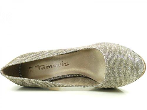 Tamaris 22407 - Tacones Mujer Silber (Platinum Glam)
