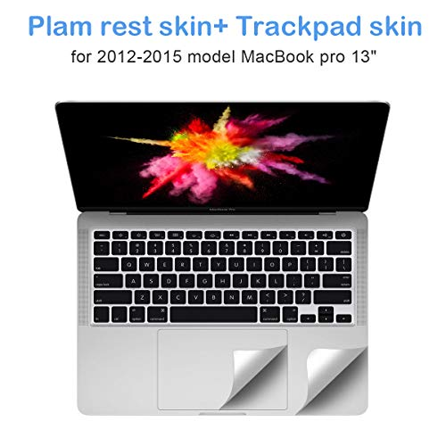 FORITO Palm Rest Cover and Trackpad Cover Compatible for Old MacBook Pro 13 inch 2015-2012 Released Model A1425 A1502 (Not Fit The 2016-2019 New MacBook Pro 13)