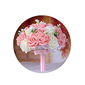 Artificial-Flowerswedding Bridesmaid Rose Pearls Artificial Flowers Bridal Bouquets Handmade Wedding Bouquets Wedding Flowers Bridal,03 4