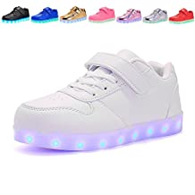 Kids USB Charging Light Up LED Shoes Flashing Sneakers For Boys Girls Walking Shoes Luminous