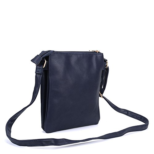 Navy Women Strap High PU With Quality Leather YOUNG Bag Across Fashion Body SALLY Hfq7Tw