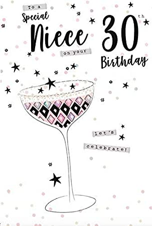 For A Special Niece On Your 30th Birthday Card Amazoncouk Office Products