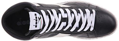 Negro Sandalias Plataforma Waxed Diadora High con Unisex Nuvola Adulto Nero Game L Bianco xqxzRfa