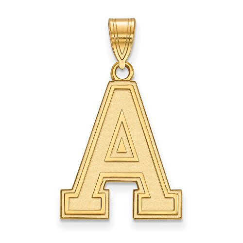 - 14k Yellow Gold USMA West Point Army Black Knights School Letter Logo Pendant L - (21 mm x 17 mm)