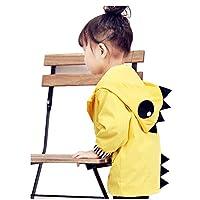 Birdfly Kids Boy Girl Duck and Dinosaur Raincoat Cute Jacket Hooded Outwear Baby Fall Winter School Oufits