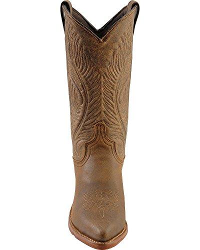 Abilene Kvinna Bombplan Läder Cowgirl Boot - 9059 Roughout